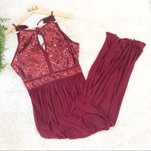 🌹LASTCHANCE🌹Dark Red Sequin Maxi Dress